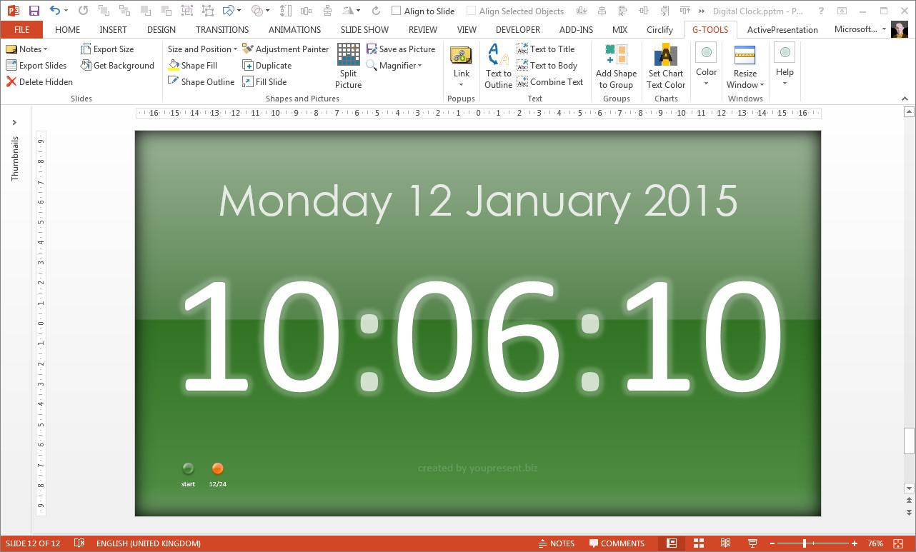 Digital-Clock-by-youpresent.biz-full-screen – Just Free Slides