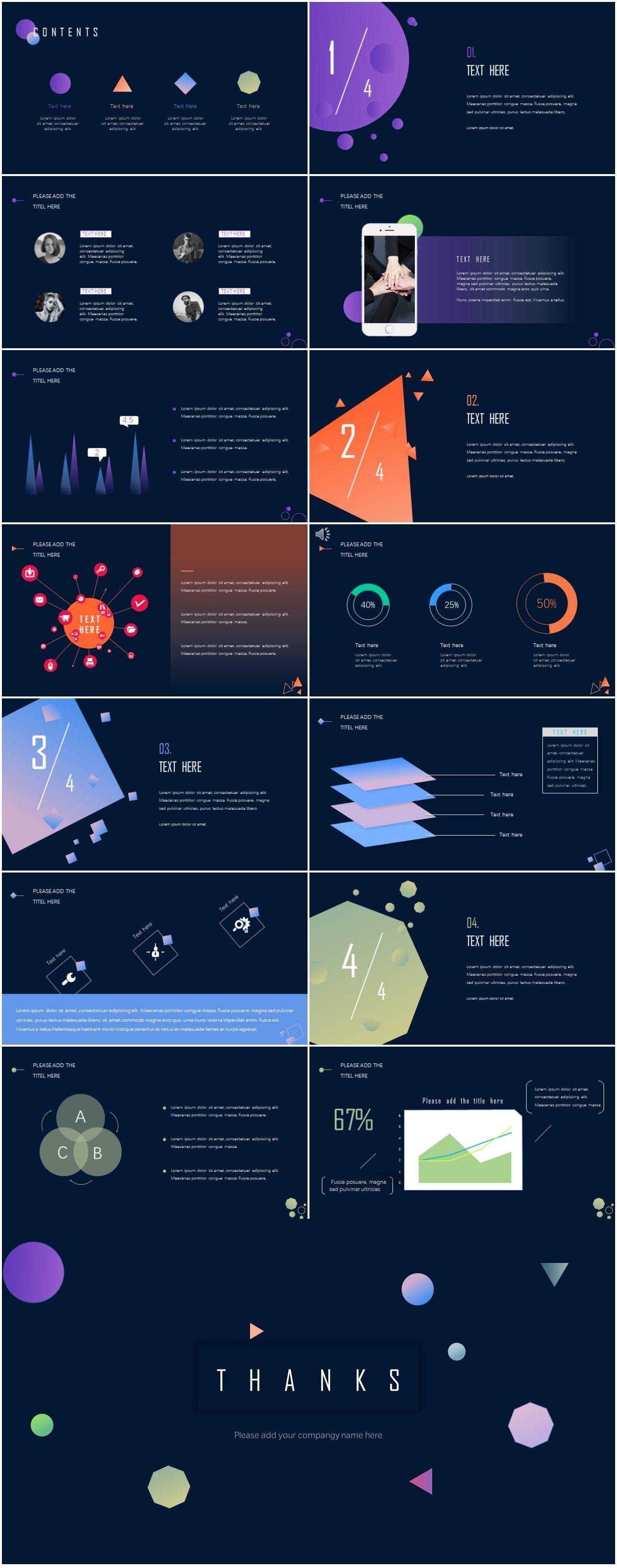 Creative Geometric Presentation Template preview