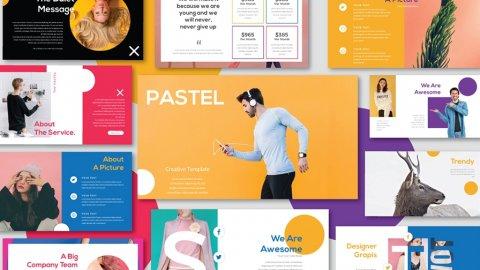 Pastel modern minimal template RITS Studio 020418 prev02 480x270 - Pastel Free Presentation Template - unique design, portfolio, modern, corporate free google slides theme, colorful, business presentation template, branding