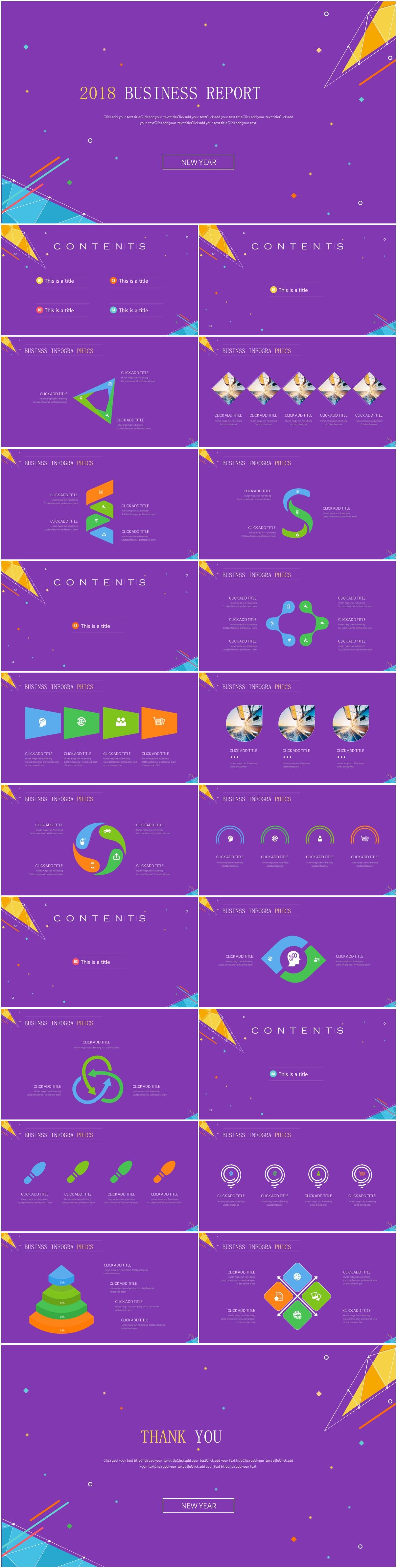modern purple flat presentation template - Modern Purple Flat Presentation Template - purple, modern, flat, business report, business presentation template