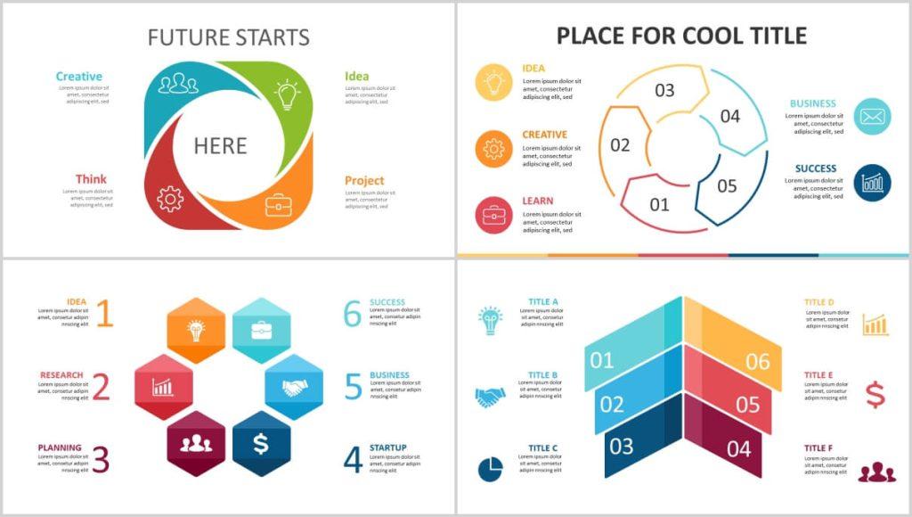 free 4-5-6 steps flow chart powerpoint diagram - Diagrams ...