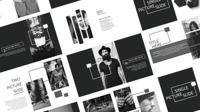 Sabee Powerpoint 1 1 400x225 - Sabee Powerpoint template free download - modern, minimal, elegant, Business, black, biz