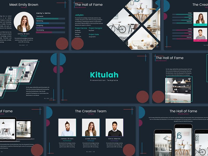 kitulah presentation - Kitulah Presentation Template - professional, enterprise, dark, Creative, clean, Business