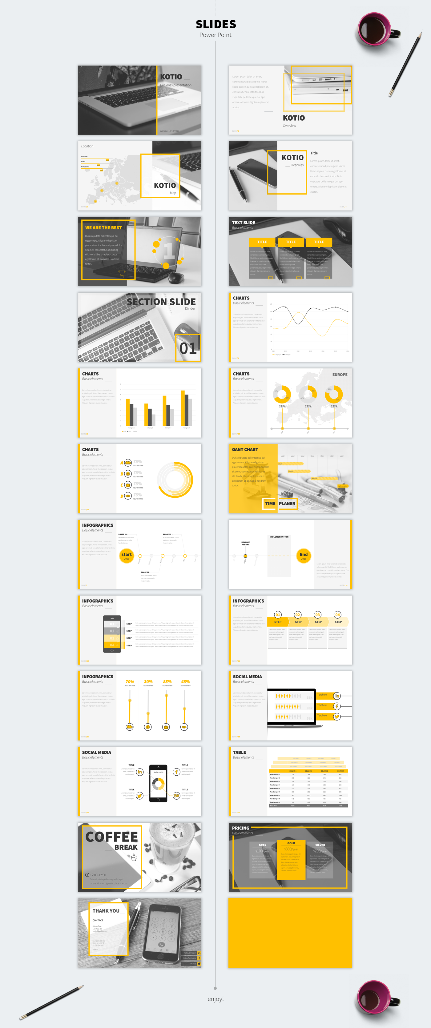 Kotio free Power Point Business Presentation - Kotio free Power Point Business Presentation - Yellow, creative, Business