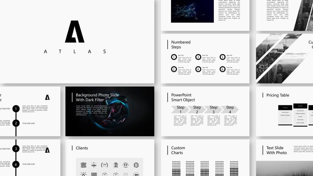 atlas presentation 1 - Atlas elegant pure presentation template - Timeline, pure, Gallery, Elegant, clean
