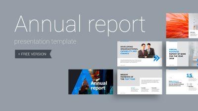 Annual report 400x225 - Annual Report Presentation Template - professional, modern, corporate, Business, Annual Report