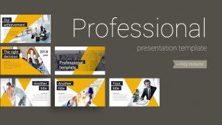 Professional 320x180 - Professional presentation template - Yellow, professional, modern, Gold, Business