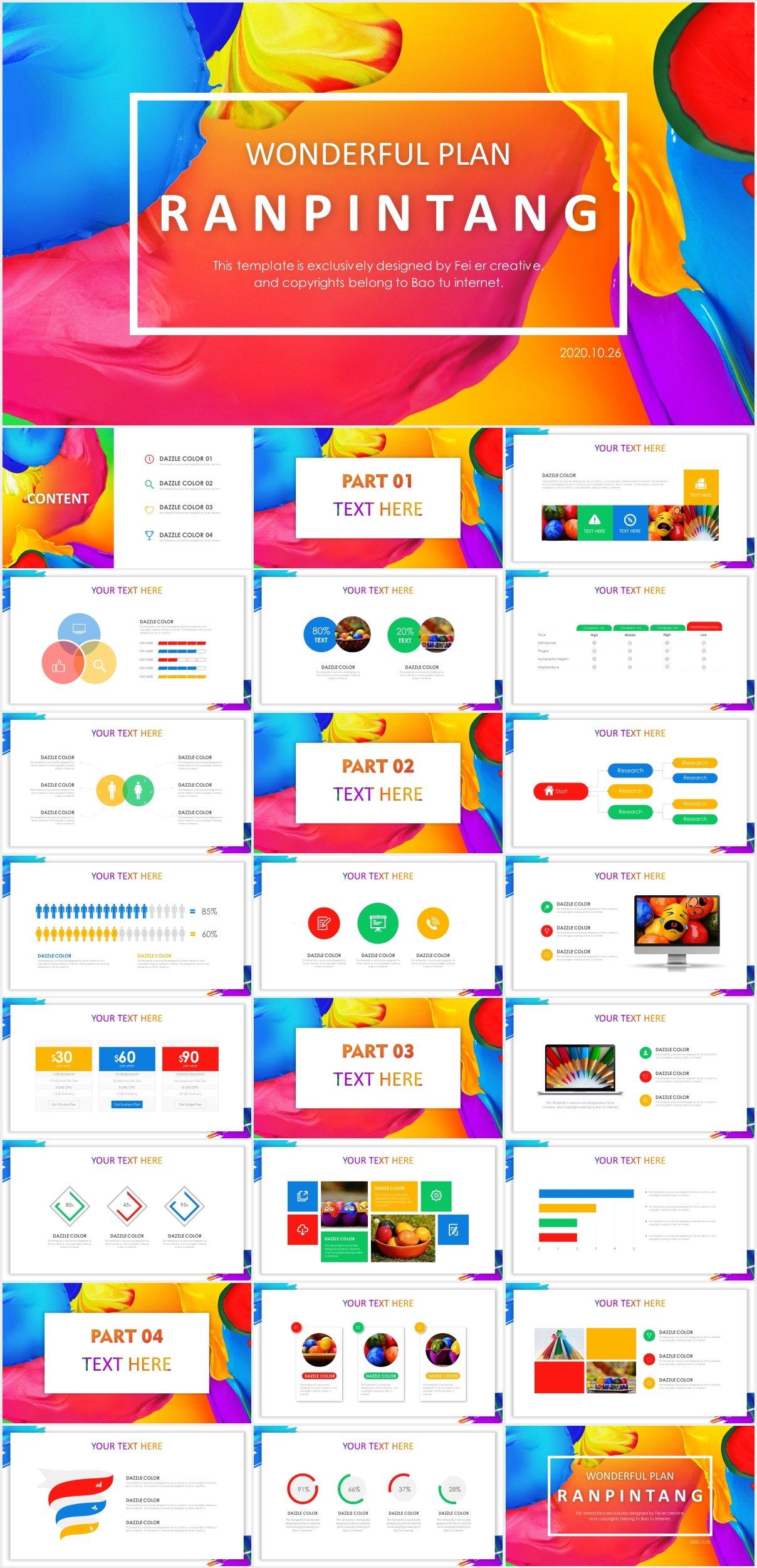 Ranpintang Colorful Presentation Template Just Free Slides