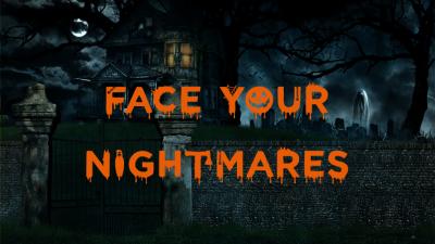 FACE YOUR NIGHTMARES Halloween 400x225 - Face Your Nightmares Halloween Presentation - Yellow, pumpkin lanterns, Halloween, ghost