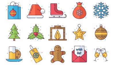 Merry Christmas Vector Freebie Icon Set 1 400x225 - 6 Christmas Vector Freebie Icon Set Help You Make Xmas Presentation - Icon, Christmas