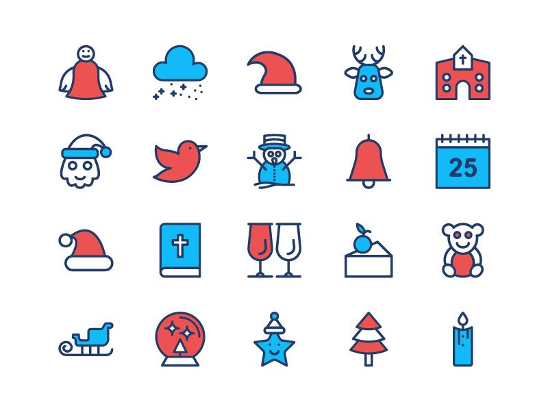 Christmas Freebie Icon Set