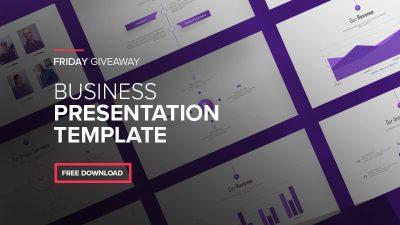 Free Purple Business Agency Presentation Template 400x225 - Free Purple Business Agency Presentation Template - purple, Business