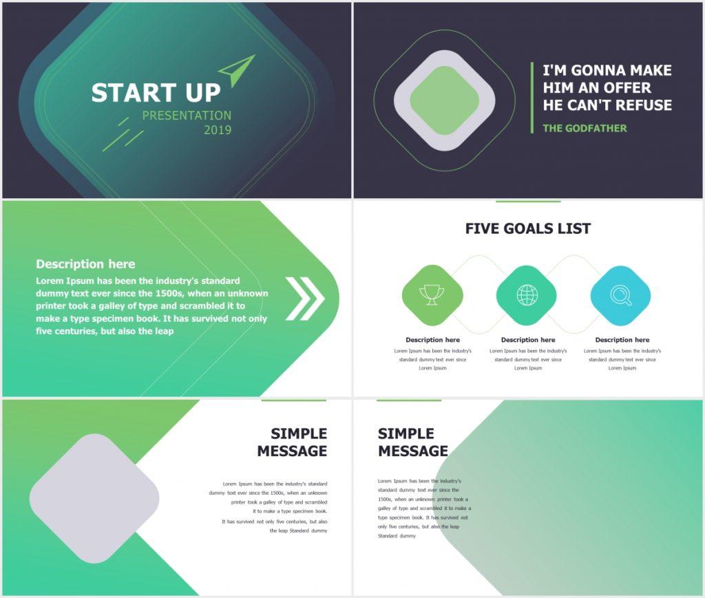StartUp X presentation Template Deck 1 1024x869 - StartUp-X presentation Template Deck - Startup, puzzle slide, Portfolio, business timeline, Business