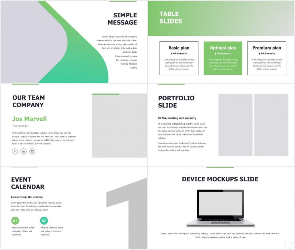 StartUp X presentation Template Deck 2 1024x869 - StartUp-X presentation Template Deck - Startup, puzzle slide, Portfolio, business timeline, Business