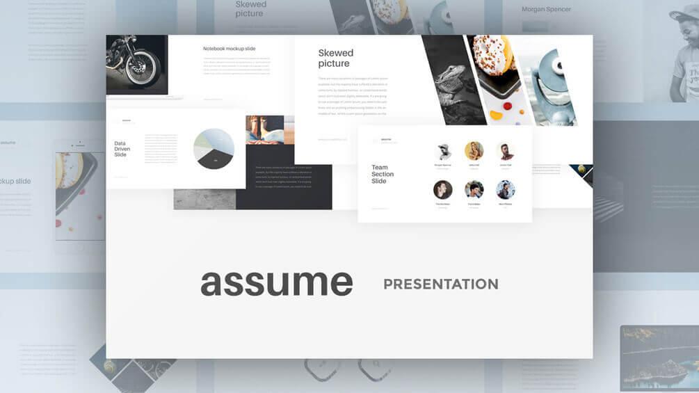 Assume Free Sample Presentation - Assume Free Keynote Presentation - Startup, Multipurpose, Food, Business