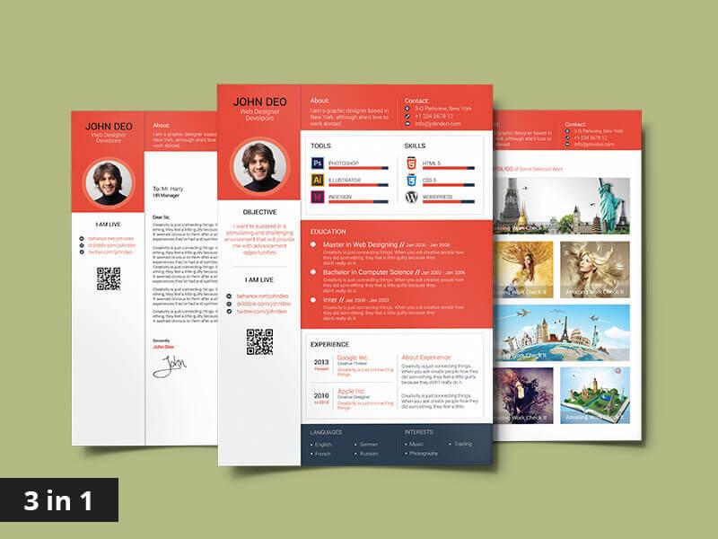 Material Design Resume - 10 Best Top Free Modern CV Template 2019 - Resume, modern, Material Design Resume, CV