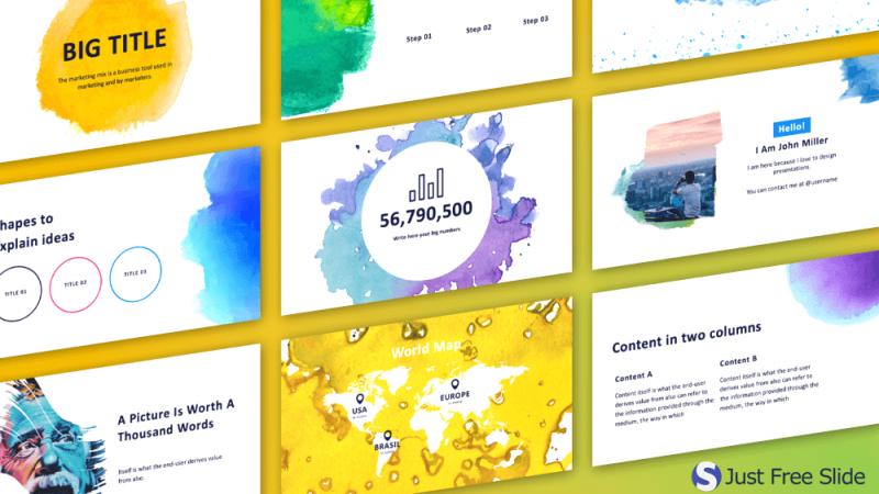5 Free Art Style Presentation Designs Just Free Slides