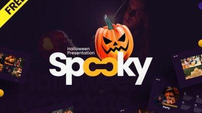 spooky 20preview 202 400x225 - Free Spooky - Halloween Presentation Template - purple, pumpkin lanterns, Halloween Party, Halloween