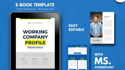 Company Profile 2020 400x225 - Company Profile 2020 Free Keynote/PowerPoint Template - profile, Portfolio, ebook, Company introduction, Business