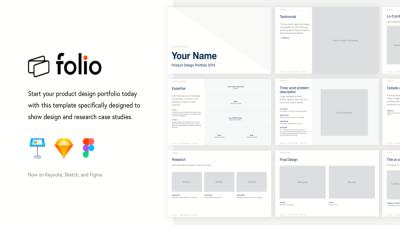 folio 2020 preview 400x225 - folio Free Keynote Portfolio Theme - Sketch, Portfolio, graphic design, Figma, Designer, design