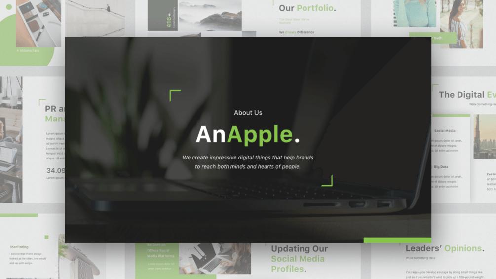 AnApple Keynote Template