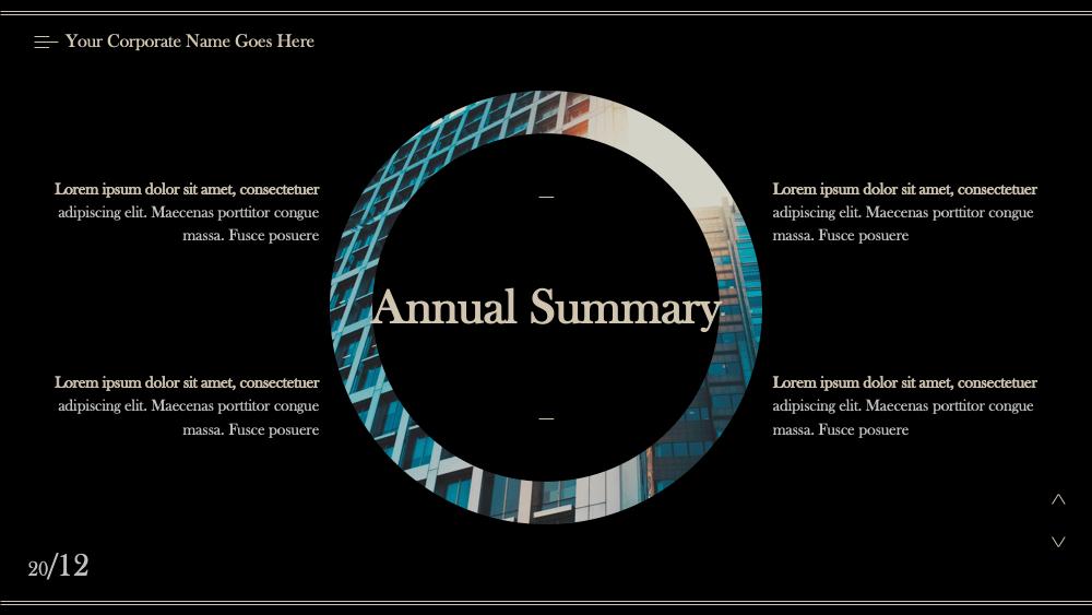 Annaul report10 - Dark Annaul Report PowerPoint Template - 忘吃药的晓公子, dark, Annual Report