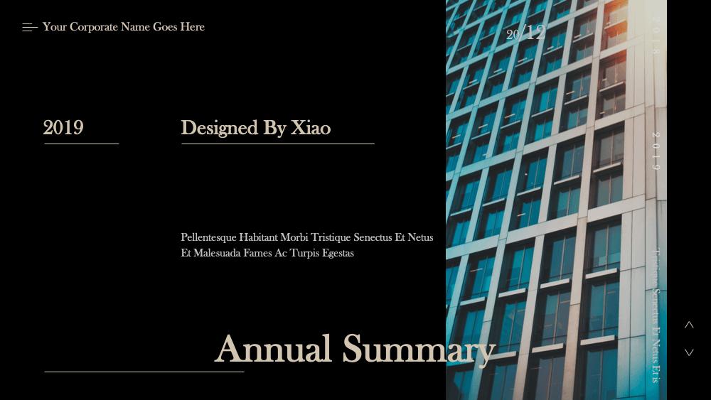 Annaul report2 - Dark Annaul Report PowerPoint Template - 忘吃药的晓公子, dark, Annual Report