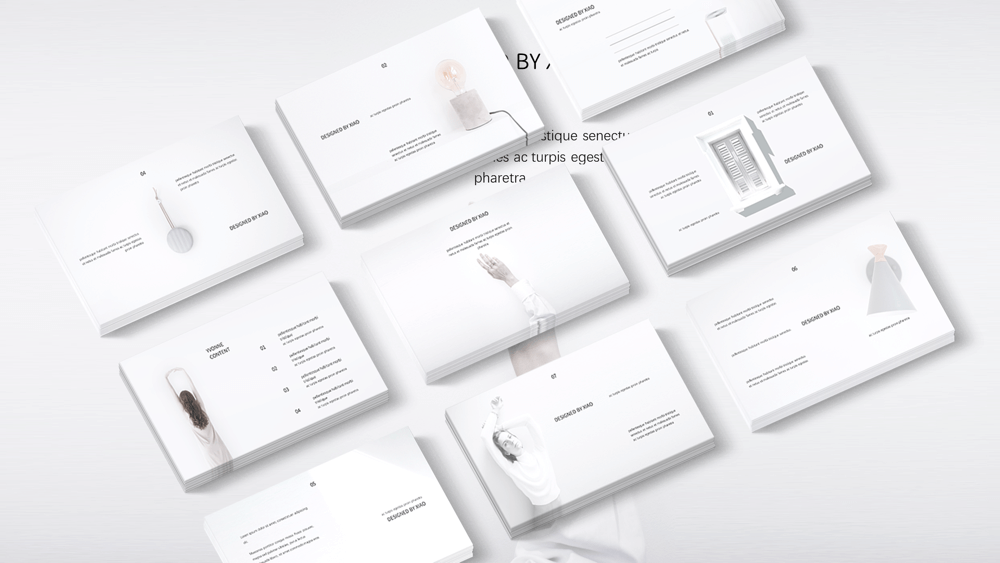 White Minimal Presentation Template preview