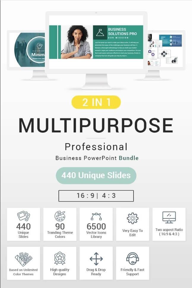 Multipurpose Bundle 2 in 1 PowerPoint Template
