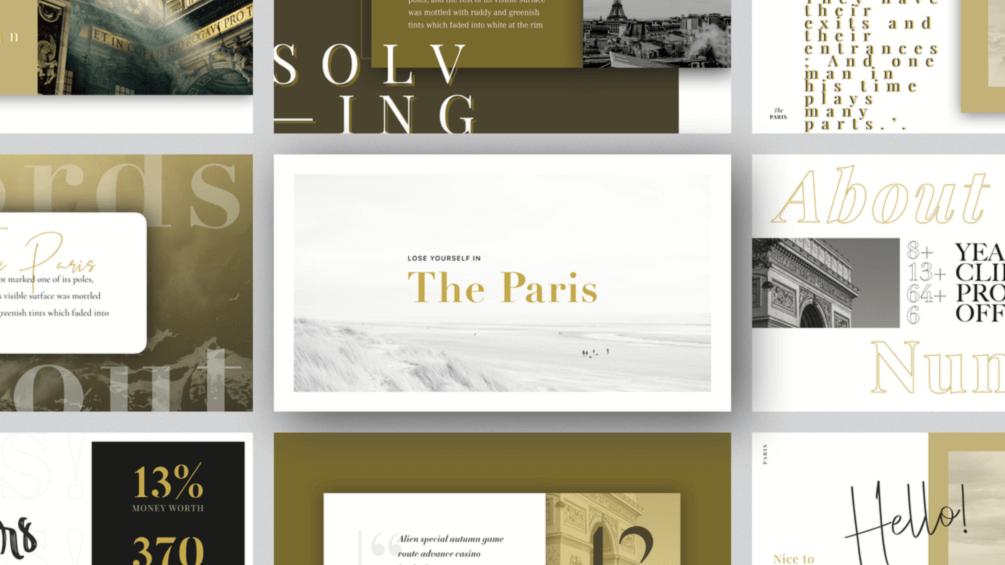 PARIS Free Keynote Template