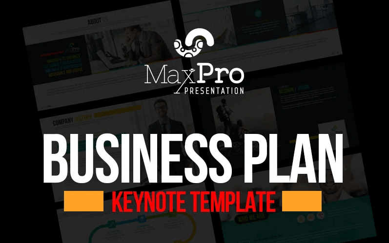 MaxPro - Business Plan Presentation Keynote Template