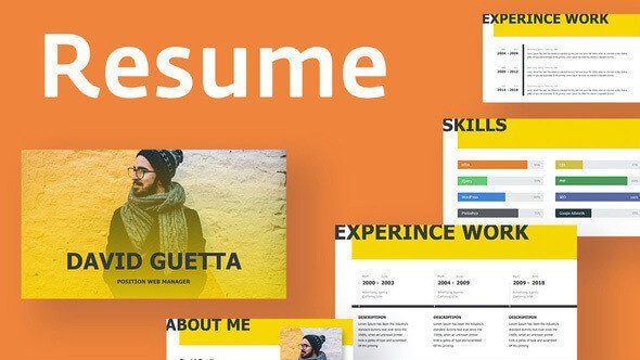 Resume Powerpoint Template FREE Yellow Resume Powerpoint Template – FREE