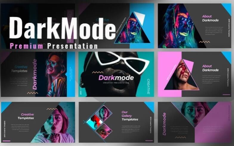 darkmode keynote template 1