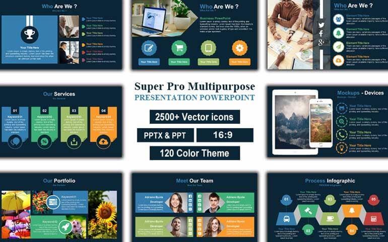 Super Pro Multipurpose Presentation PowerPoint Templateu