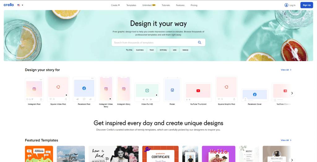 Crello- Design it your way