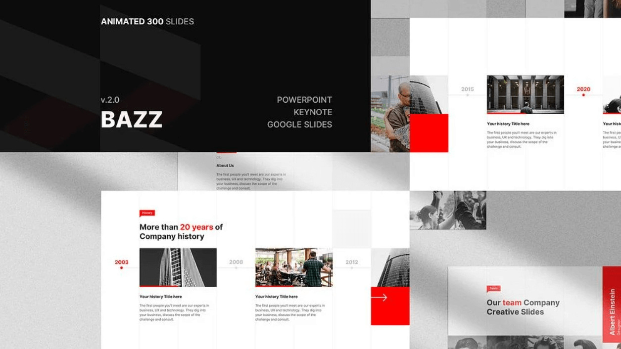 Free Bazz PowerPoint Keynote Template