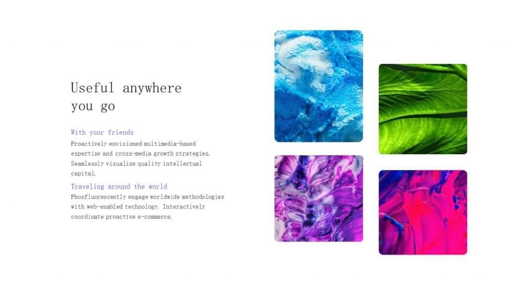 Selfone Creative Google Slides Template 4