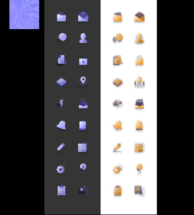 Figma Neumorphism'ish icon set