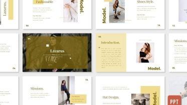 LAZARUS Free Fashion PowerPoint Template