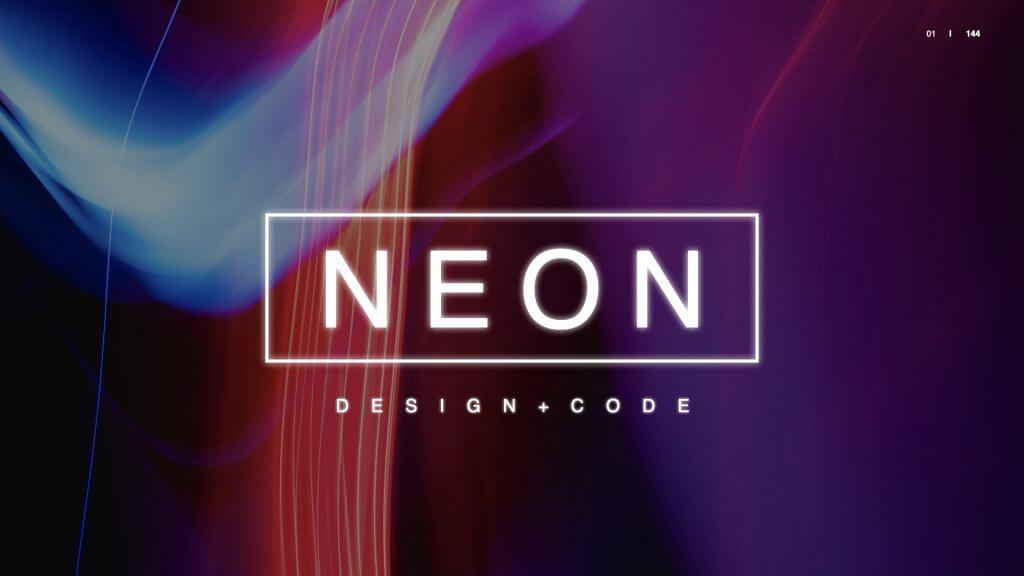 NEON Free Keynote Presentation Template.001
