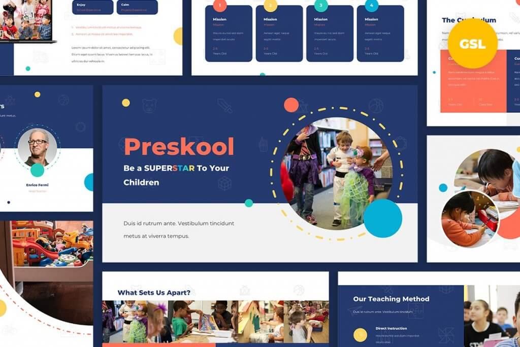 Preskool - Kindergarten Google Slides Template