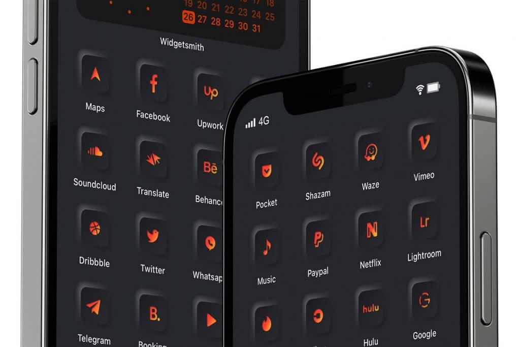 Volcanic Dreams iOs 14 icons set