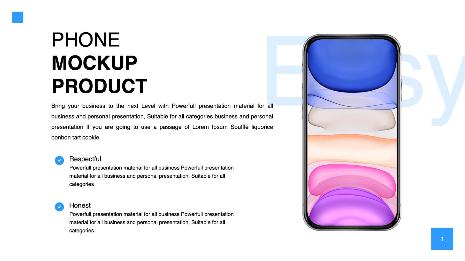 Free iPhone Mockup Keynote Template
