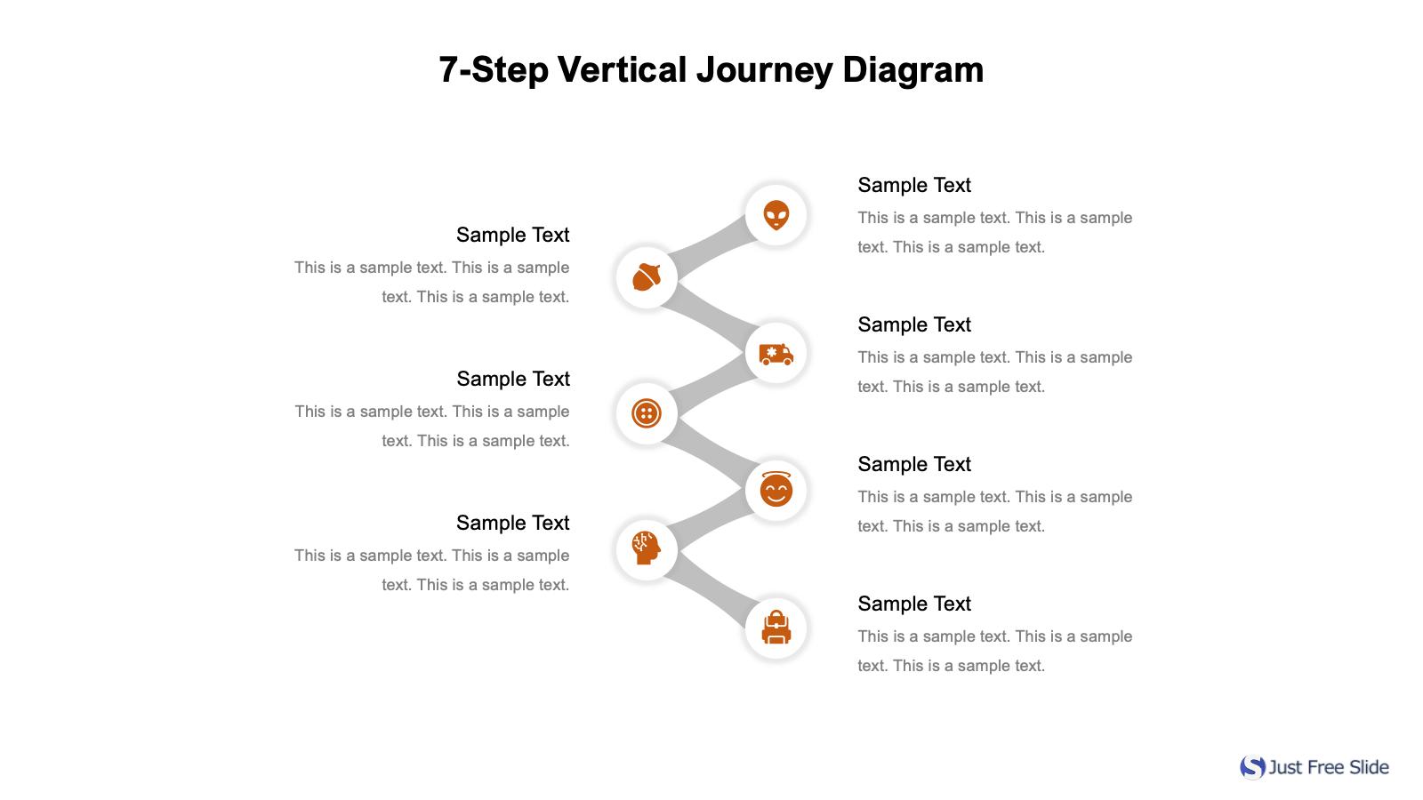 7-Step Vertical Journey Diagram Free Download