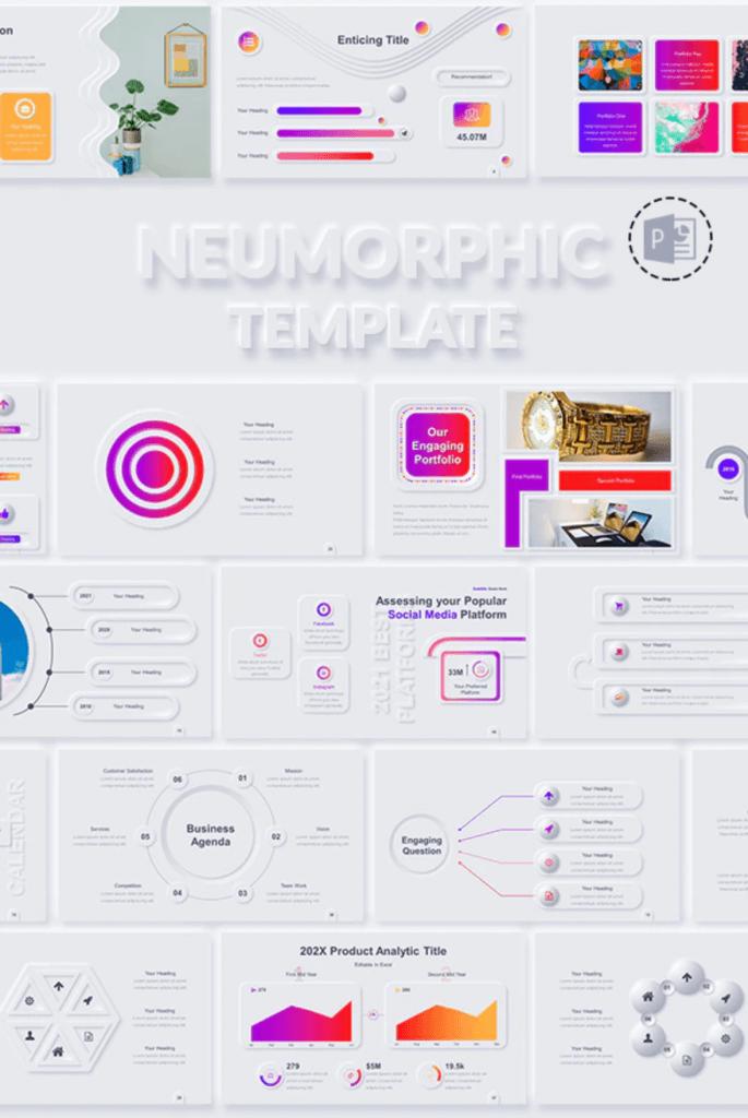 Neumorphic PowerPoint Presentation Template
