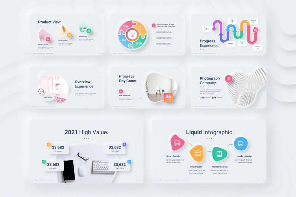 Neumorphic Style 2021 Powerpoint