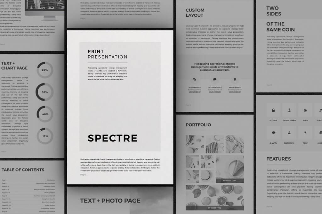 Spectre - Vertical Presentation PowerPoint Brochure Templates