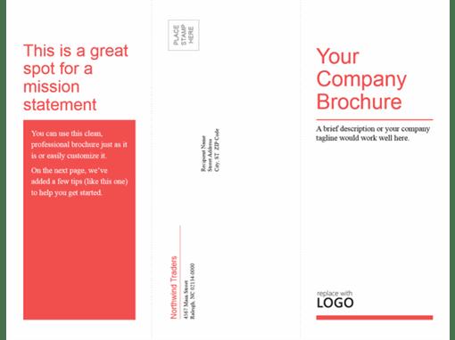 Tri-fold business, medical brochure