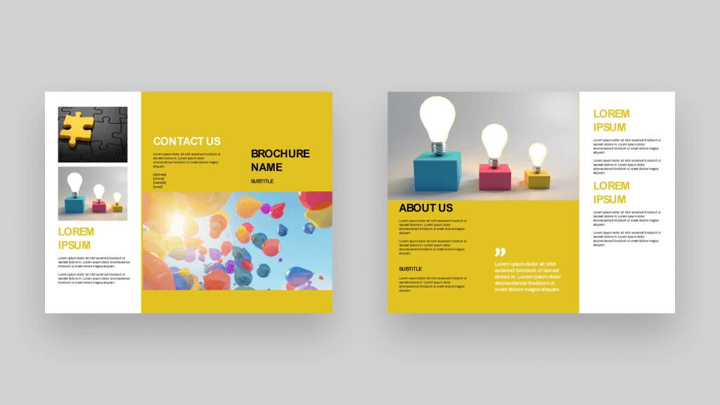 Yellow event brochure